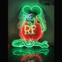 Custom RAT FINK Glass Neon Light Sign Beer Bar