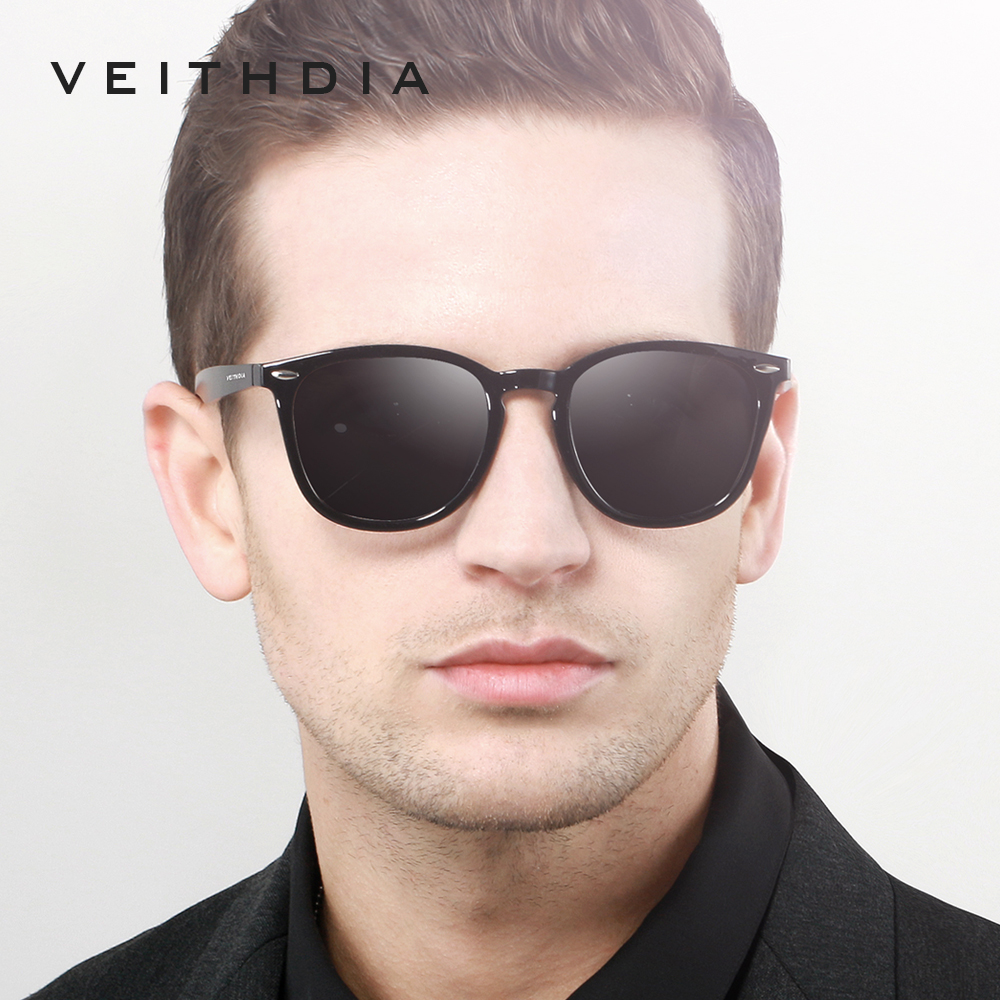 VEITHDIA Brand Unisex Aluminum+TR90 Men's Photochromic Mirror Sun Glasses Eyewear Accessories Sunglasses For Women 6116 5