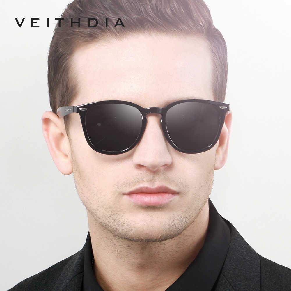 Veithdia óculos de sol unissex espelhado, óculos de sol de alumínio, fotocrômico, masculino tr90 6116