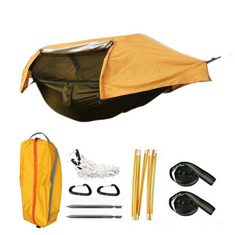 Multi functional insect net waterproof windproof ultralight parachute hammock aerial tent Portable Outdoor Camping 270x140cm|Hammocks| |  - title=