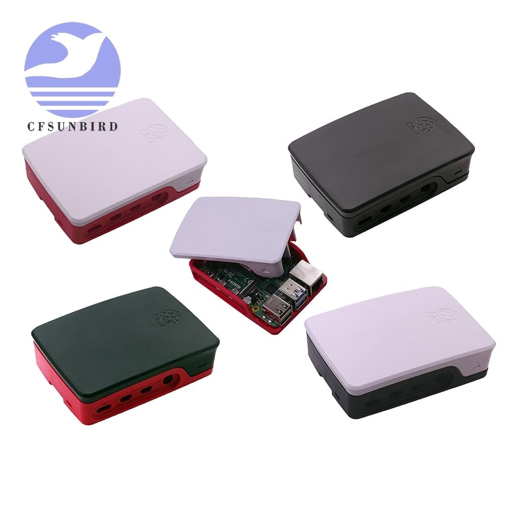 Original raspberry pi 4 caso oficial abs branco & vermelho escudo caixa de gabinete plástico para raspberry pi 4 modelo b