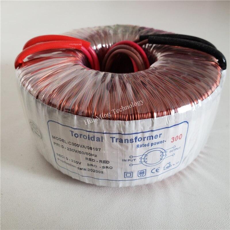 transformador toroidal de cobre do isolamento do transformador 230 v 230 v 1 3a 300va para