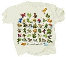Guia Ultimate Frog & Sapo Adulto T-shirt S M L XL XXL Cor Natural 40 Espécies