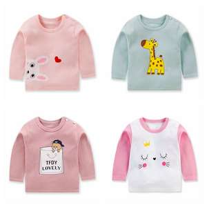 T-Shirt Tops Baby's-Clothing Newborn Girl Cotton Long-Sleeved Casual Boy Soft Underwear