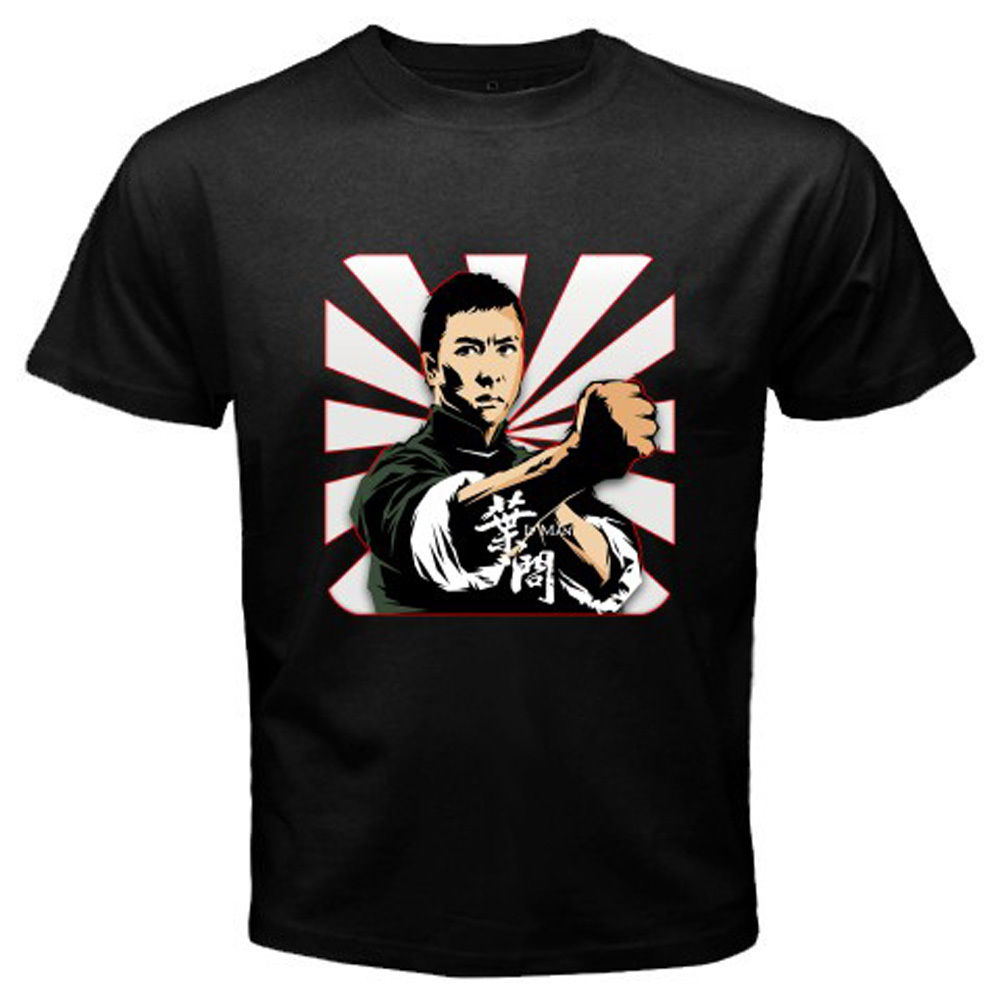 New Ip Man Wing Chun *Donnie Yen Kung Fu Movie Men'S Black T-Shirt Size S To 3Xl image