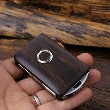 Пульт дистанционного управления деревянный Автомобильный Брелок чехол для ключа кожаный чехол Замена для Volvo- XC90 S90 V90 XC60(только чехол