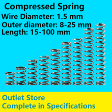 Return Spring Spot Goods Telescopic Spring Line Diameter 1.5mm, External Diameter 8-25mm, Length 15mm-100mm Compressed Spring