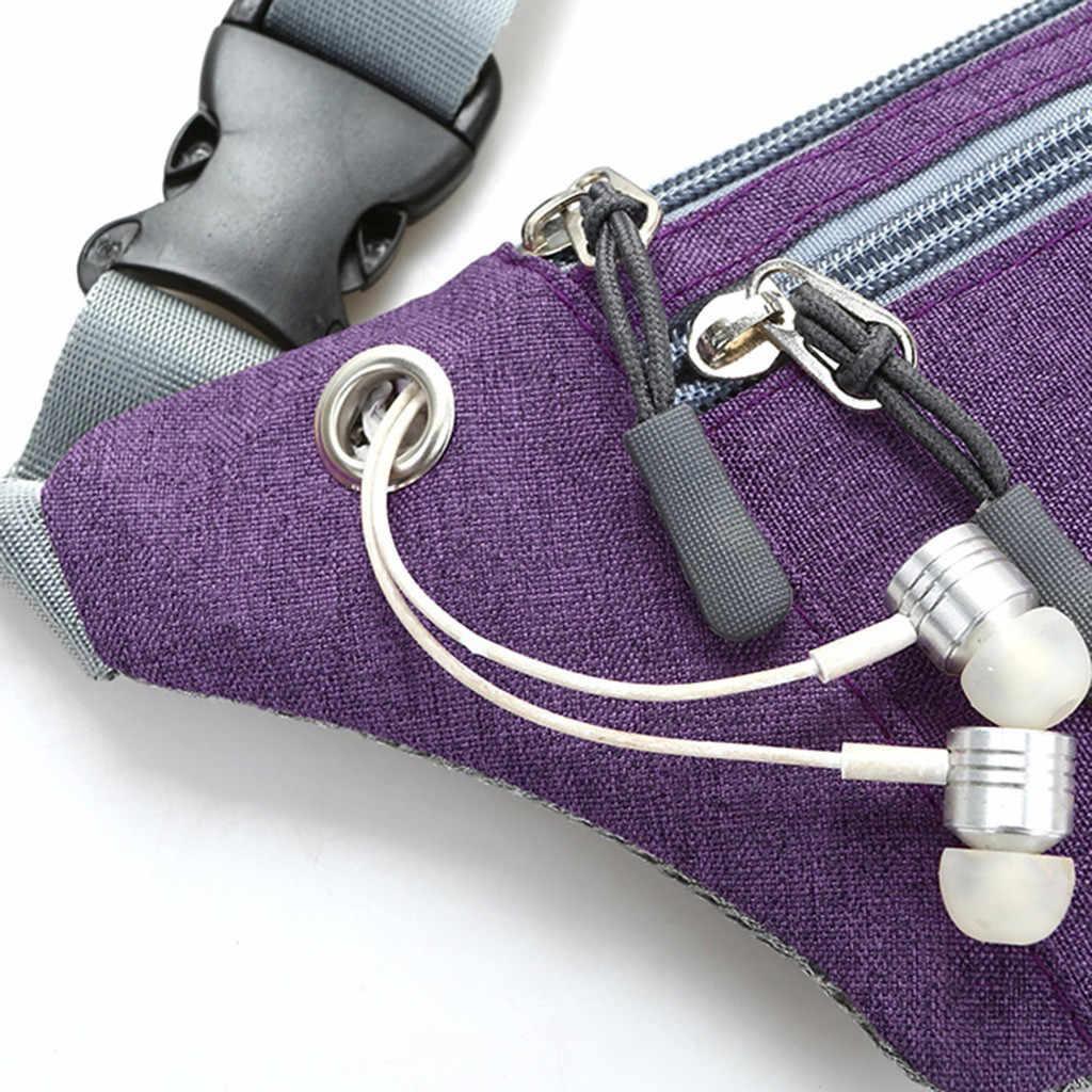 Mujeres Hombres multifunción bolsillos al aire libre deporte ocio mensajero cintura paquetes bolsa cintura geométrica paquetes pecho Bolsa De Teléfono # r5