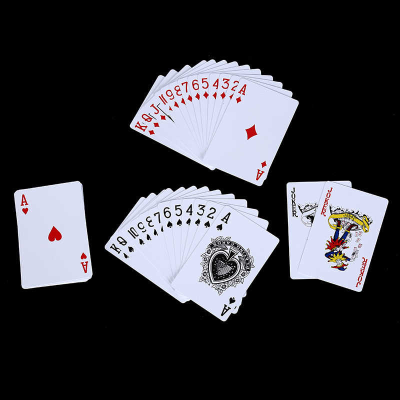 1 Set Waterdichte Duurzaam PVC Poker Kaarten Plastic Speelkaarten Novelty Poker Card Bordspel Voor Texas Game