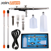 Airbrush Gun Set 0.2 0.3 0.5mm Nozzle Airbrush Pen Kit Dual Action Gravity Feed Spray Gun for Painting Cake Decorating Nail Art