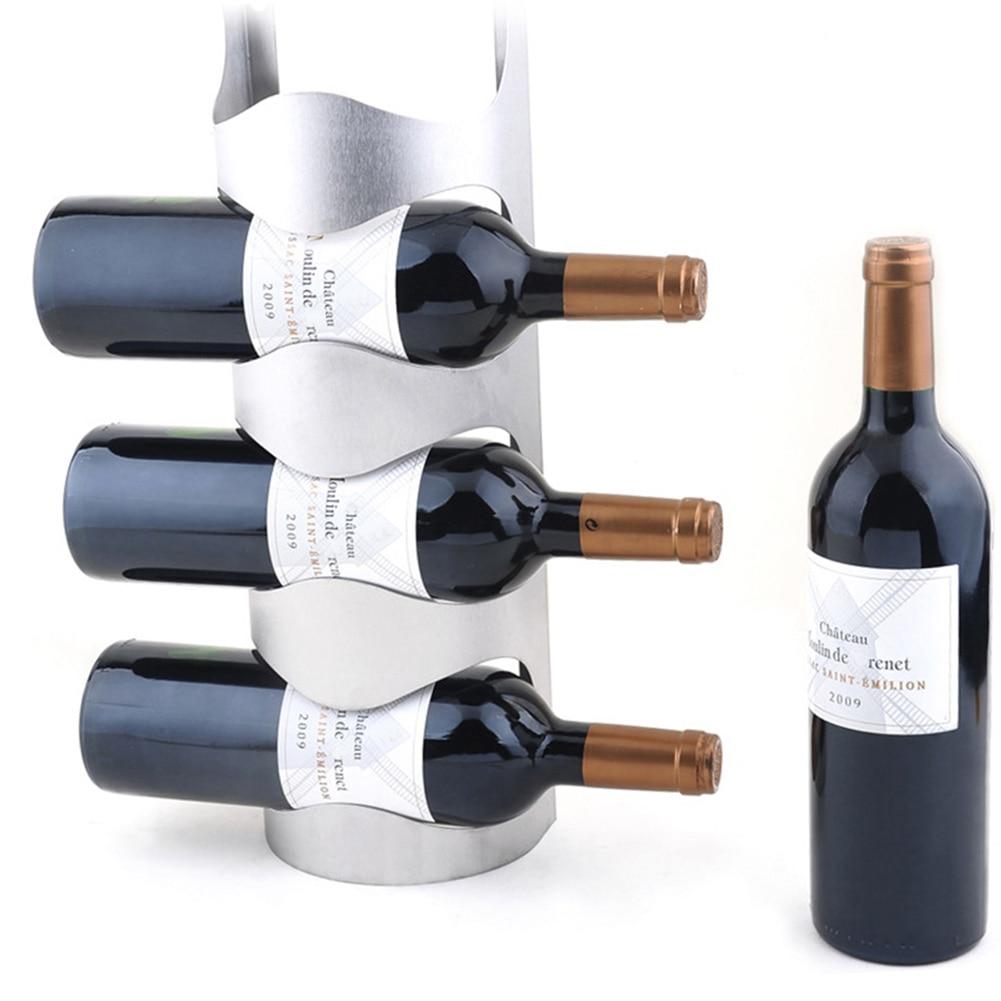 Настенный держатель для винной бутылки из нержавеющей стали держатель для хранения витрина, домашний декор MYDING