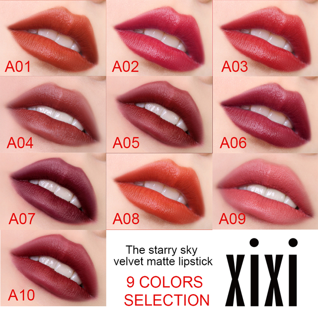 Starry Sky Lipstick Waterproof Velvet Lip Stick 10 colors Sexy Nude Matte Makeup Cosmetics 2