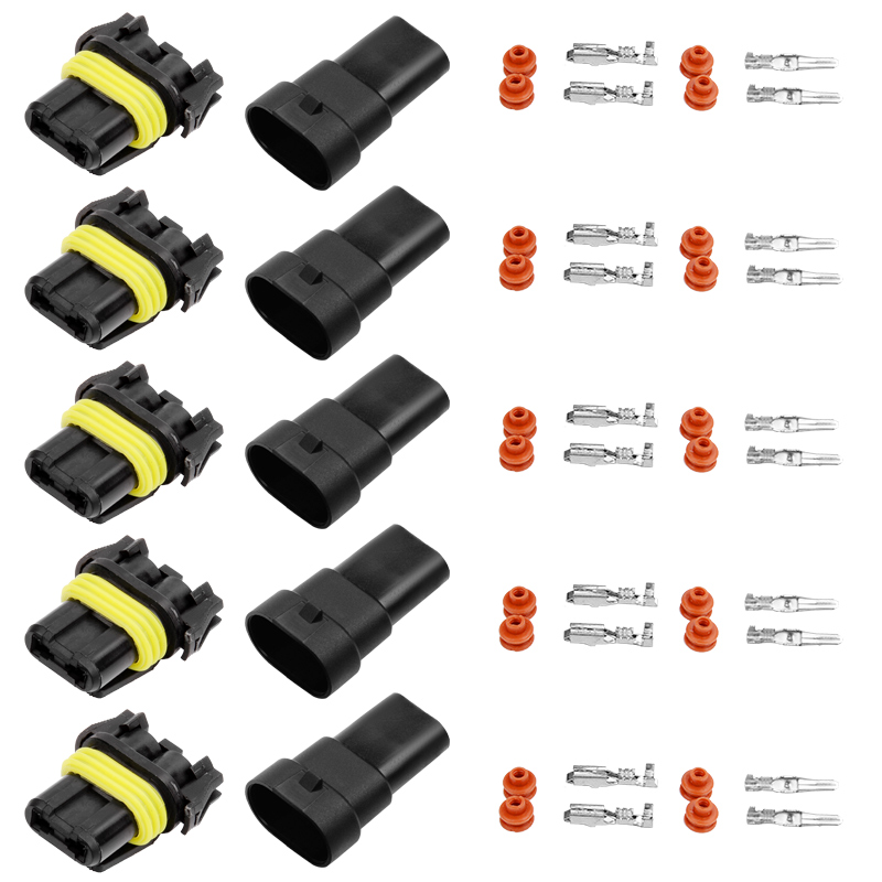 YUNPICAR 9005 HB3 H10 9006 HB4 Bulb Sockets Female Wiring Harness Connector For Fog Lamp Headlight 5Pack