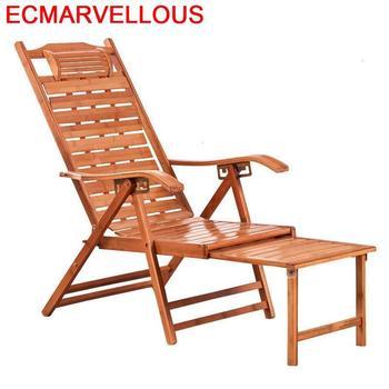 Divano-sillón Plegable de bambú, sillón Reclinable Para Sala de estar