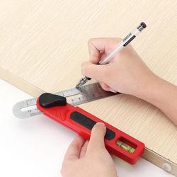 Narzędzie pomiarowe kątomierz profil konturu kąt linijka T kształt linijka regulowany z pomiar poziomu do obróbki drewna drewna