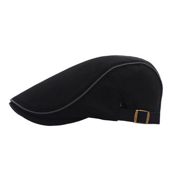 Fashion Cool Men Beret Beanie Gentleman Style Beret Hat Outdoor Sun Protection Solid Color Beret Flat Hats 2020