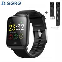 (With Box) Diggro Q9 Smart Watch Blood Pressure Heart Rate Monitor IP67 Waterproof Fitness Trakcer Watch Men Women Smartwatch
