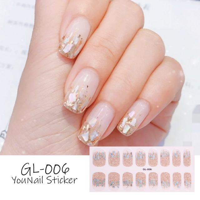 1 Sheet Glitter Series Powder Sequins Fashion Nail Art Stickers Collection Manicure DIY Nail Polish Strips Wraps for Party Decor 3