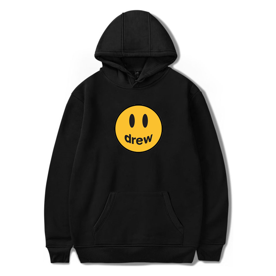 2020 Smile Print Justin bieber Drew House Hoodies 100% Cotton For Men/Women Streetwear Winter Wear Warm Sweatshirts