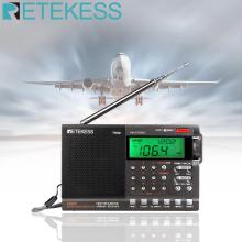Retekess TR608 FM / MW/ SW / Air Multi Band Radio Portable Digital Radio Speaker with LCD Display with Clock Alarm Sleep timer xhdata d 808 portable digital radio fm stereo sw mw lw ssb air rds multi band