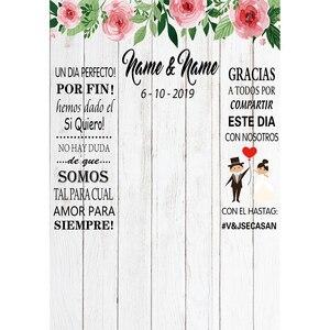 Image 3 - Funnytree fotoğraf ahşap duvar kağıdı zemin düğün gelin photocall boda özel fotoğraf arka plan photophone photozone dekor