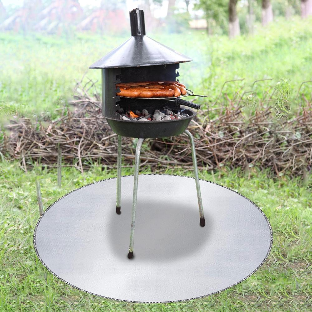 24 36 Inch Fire Pit Mat Fireproof Mat And Barbecue Deck Protection Mat Fire Resistant Round Lawn Protection Mat For Camping Camping Mat Aliexpress
