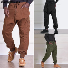 Men's Fashion Cargo Pants Man Casual straight-leg Overall Solid Color Multi Pocket Gilet Male Outdoor Trousers Plus size INCERUN