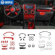 MOPAI Автомобильная приборная панель рулевое колесо динамик внутреннее украшение крышка комплект аксессуары для Jeep Wrangler JK 2007 2008 2009 2010