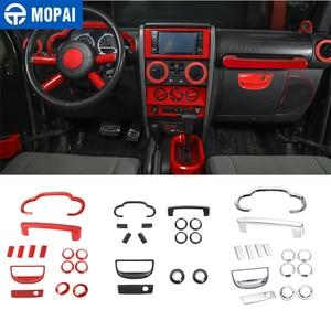Image 1 - MOPAI Автомобильная приборная панель рулевое колесо динамик внутреннее украшение крышка комплект аксессуары для Jeep Wrangler JK 2007 2008 2009 2010