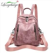 2020 yeni bahar kadın sırt çantası yüksek kaliteli yağ PU deri marka moda kadın sırt çantaları yüksek kaliteli okul çantası seyahat çantası