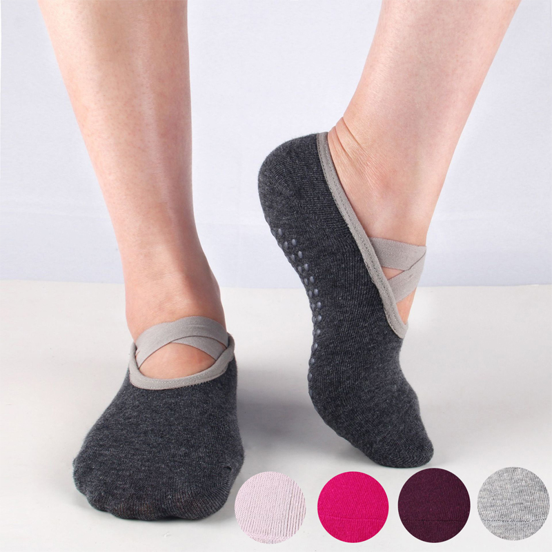 Professional Women's Yoga Socks Breathable Sport Ballet Dance Socks With Anti-slip Silicone Pilates Dancing Traning Grip Socks