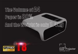 Image 2 - ByJoTeCH T8 projektor LED 4500 lumenów 1920x1080 kina domowego Beame 3D Full HD 1080P Amlogic S905 Android Proyector VS T6