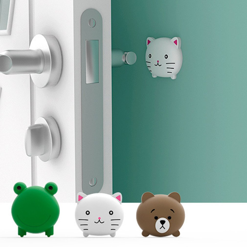 Fashion Cartoon Door Stopper Pad Door Crash Pad Protective Pad Cartoon Wall Fenders Thickening Silicone Animals Mats