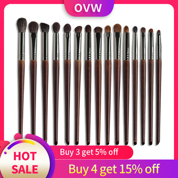 OVW Natural Goat Hair Eyeshadow Professional Makeup Brushes Crease Blending Shader kist' dlya teney brovey brochas maquillaje
