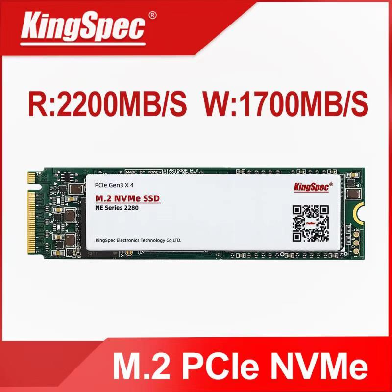 Kingspec M2 NVMe SSD M.2 PCIE SSD M2 Internal Disk Solid State Drive NVME 2280 512GB 3 Years warranty with heat sink sticker