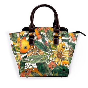 NOISYDESIGNS Vintage Sunflower Printing Leather Female Top-handle Bags Rivet Larger Women Bags Hair Shoulder Bag Bolsos Mujer