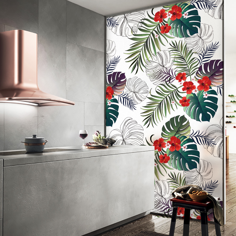 DICOR Flower Pattern Glass Window Privacy Film No Glue Decoration Anti Uv Bathroom study living room Home Decor BLT1557 in Decorative Films from Home Garden