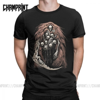 The Gravelord T-Shirts for Men Dark Souls Skeletons Skulls Scary Horror Funny Pure Cotton Tees T Shirts Printed Clothes - discount item  40% OFF Tops & Tees