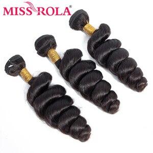 Image 3 - Verpassen Rola Haar Malaysische Lose Welle 3 Bundles Mit Verschluss 100% Menschliches Haar Bundles Malaysische Haar Mit 4*4 spitze Schließung Nicht Remy