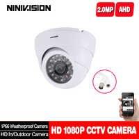 Cámara domo blanca de interior y exterior para el hogar IR-CUT cámara de visión nocturna de 2.0MP 1080P AHD AHD-H cámara CCTV para sistema de vigilancia del hogar