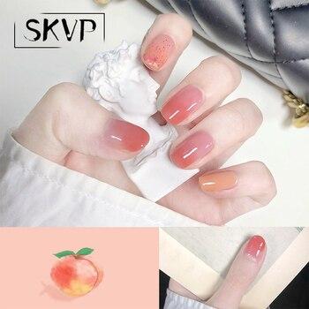 SKVP 8ml Pink Matte UV Gel Nail Polish Peach Color Matte Top Coat Soak Off Nail Art Gel Varnish Varnish Base Nails Art DIY недорого