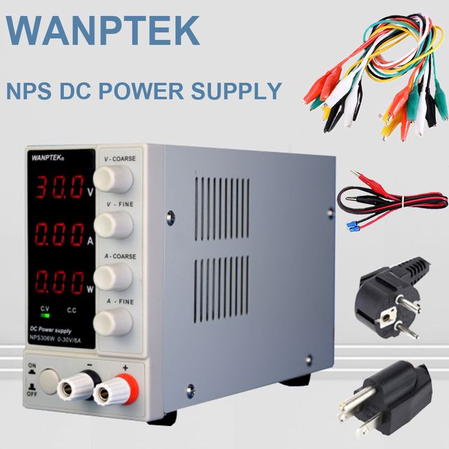NPS306W/ NPS1203W Mini Switching Regulated Adjustable DC Power Supply with power display 30V6A/120V/3A 0.1V/0.01A/0.01W