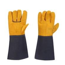Сварочные Перчатки Рабочие сварщики коровья кожа перчатки для