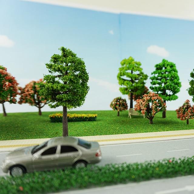 70pcs Model Trees 1:75//1:100 HO Z TT Scale Layout Train Garden Park Buildings