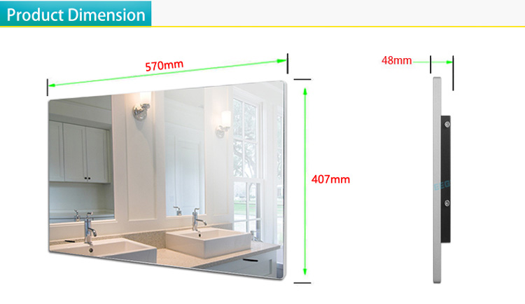 H92fb5b9612f4470abe8baf0b03e76b17Z 21.5inch Airplay Cast Waterproof Bathroom LED TV  Inernet Mirror LED TV  Shower room LED Full HD 1080 Android Wi-Fi Glass Panel