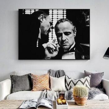 Pósteres e impresiones de pared Vintage de Arte Moderno negro y blanco película Pared de fotos arte lienzo impresiones lienzo pinturas de pared Decoración