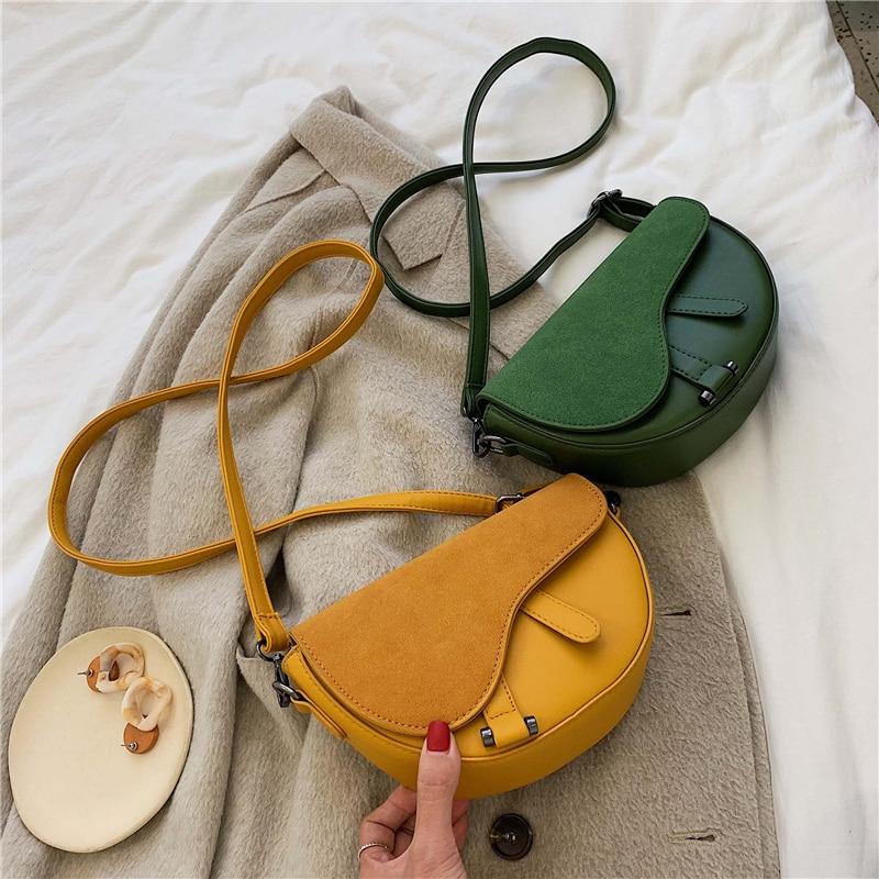 Vintage Female Matte Flap Saddle Bag 2019 New High Quality PU Leather Women's Designer Handbag Travel Shoulder Messenger Bag