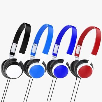 1pcs Wired Stereo Earphones Noise Canceling Earplugs for Portable Laptop Desktop Computer PC Headphones Headset 1