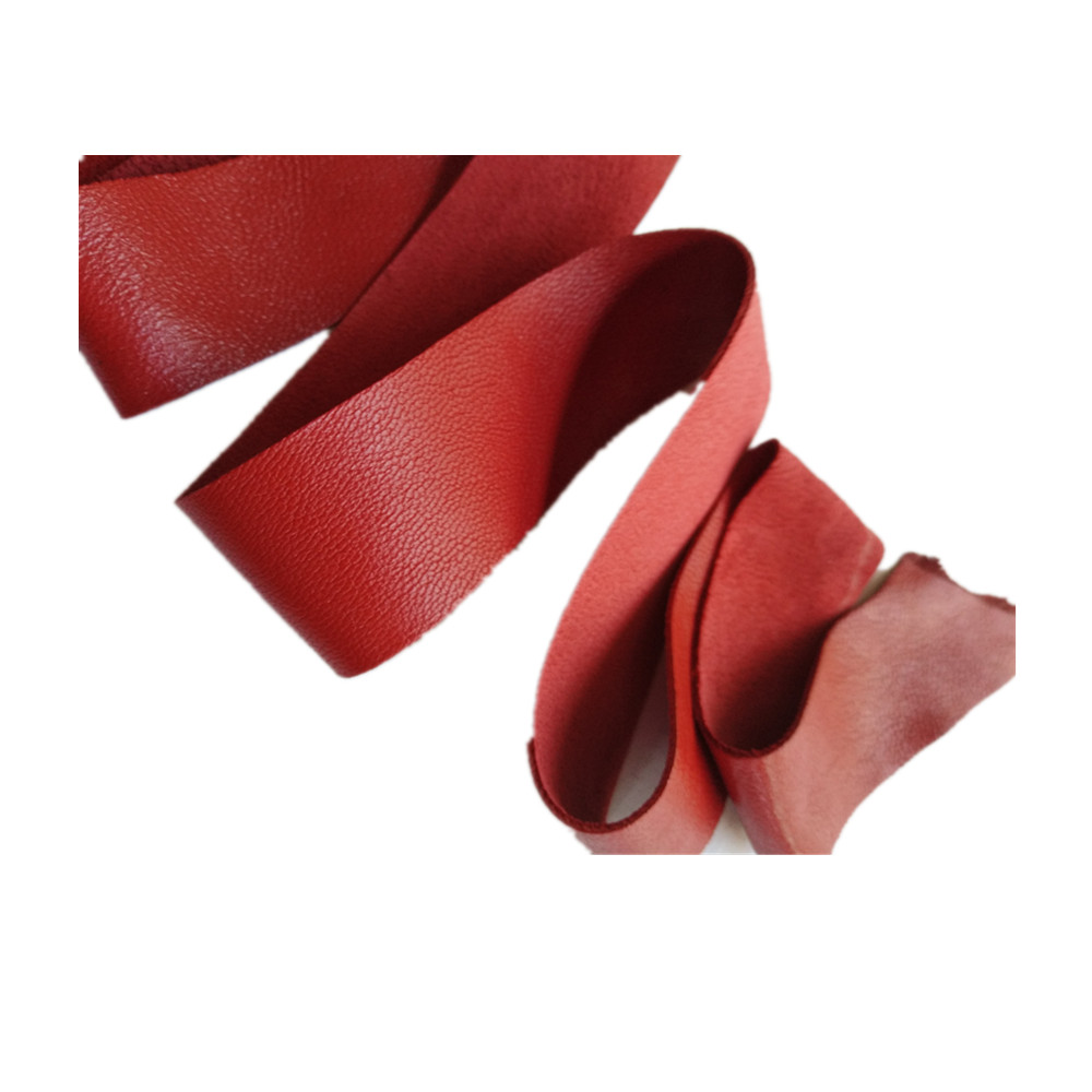 Big red sheepskin 0.5-0.9 mm handmade diy leather leather clothing packaging decoration wrapping  trim seam patching hole re