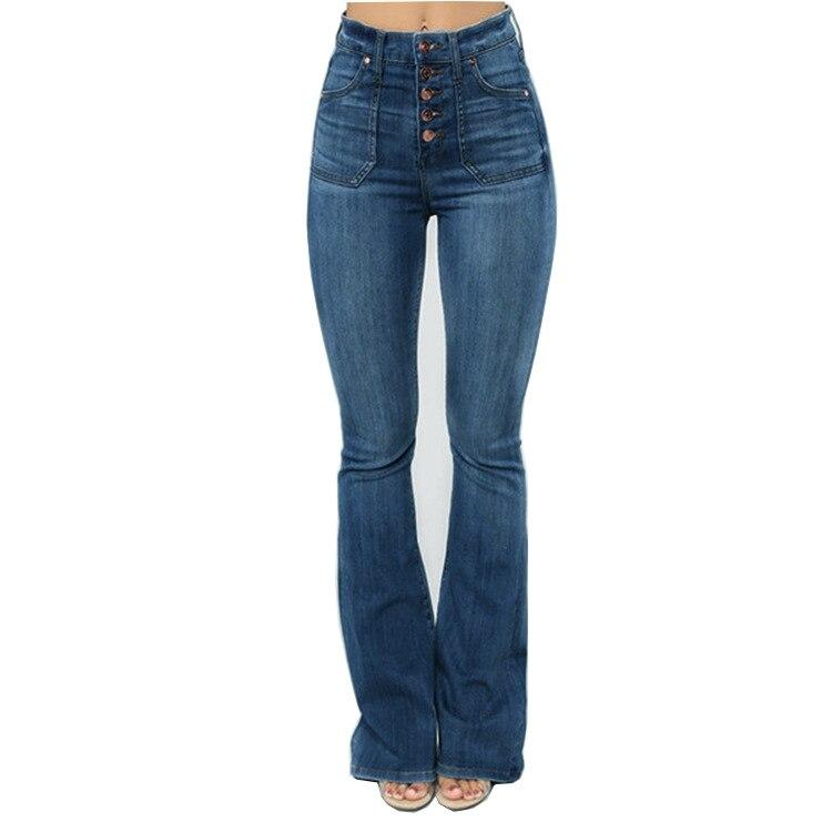 3colors Womens Fashion Plus Size Button-Up Flat-Front Bodycon Denim-Pants Nail Beads Stretchy Low Waist Jeans Denim Pants